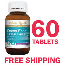 Herbs of Gold Stress Ease - Adrenal Support - 60 Tablets