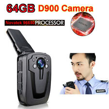 64GB D900  High Definition Full HD 1080P Body Personal Security &Police Camera