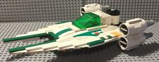 Custom Lego Star Wars Green/White U-WIng Small Fighter design with Pilot Cmdr.