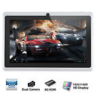 7'' Quad Core WIFI Bluetooth Tablet PC Google Android 4.4 8GB Dual Camera White