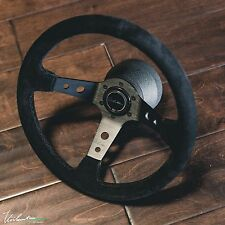 VIILANTE TOURISMO 350 STEERING WHEEL SUEDE **BLACK STITCH** RENOWN FITS NRG HUB