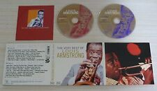 2 CD DIGIPACK THE VERY BEST OF LOUIS ARMSTRONG 40 TITRES 1998 DONT 2 INEDITS