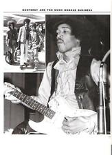 JIMI HENDRIX 'collar up' magazine PHOTO / Pin Up / Poster 11x8 inches