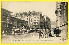 cpa Rare 75 - PARIS Les HALLES Marché PAVILLON de la BOUCHERIE Côté St Eustache