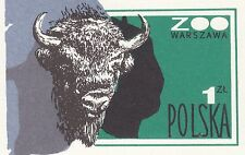 POLAND 1979 mint Postcard Cp#731 50 years of activity - Warsaw ZOO. Polish bison