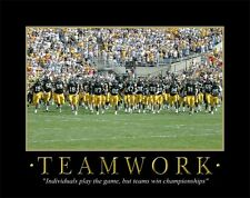 Iowa Hawkeyes Football Motivational Poster Nile Kinnick Stadium The Swarm MVP62