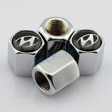 Car Truck Wheel Tire Tyre Valve Stem Cap For Hyundai  Accessories Silver Styling