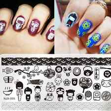 Nail Art Stamping Plate Rectangle Stamp Template Image Japan Style NJX-005
