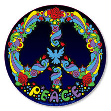 CS249 - Peter Max Style Pop Art Peace Symbol Color Sticker / hippy psychedelic