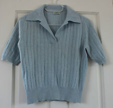 Clements Ribeiro blue short sleeve cashmere sweater/jumper - Size M