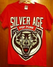 SILVER AGE small T shirt Michigan pop punk Bedford wolf logo Evan Villarreal