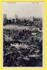 Post Card Haberman's Real-Foto Grafic view  USA NEW YORK CENTRAL PARK