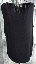 Chicos Travelers Black Stretch Jersey Tank Top Sleeveless Blouse Size 3/XL 16