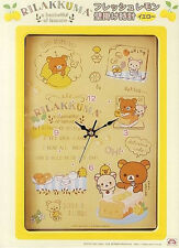 Rilakkuma Fresh Lemon Yellow Wall Clock SS8234