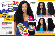 "FreeTress 3X PRE-LOOP DEEP TWIST 16"" Crochet Synthetic Braiding Hair #2 Dk Brwn"
