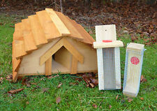 Hedgehog House plus ONE Bird feeder  ***Designed and made by Country Rustics***