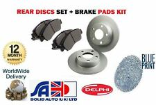 FOR HONDA ACCORD 1.8 2.0 8/1998-3/2003 NEW REAR BRAKE DISCS + DISC PADS SET