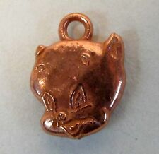 PORKY PIG copper plated charm gumball machine Cracker Jack c.1950 Warner Bros.