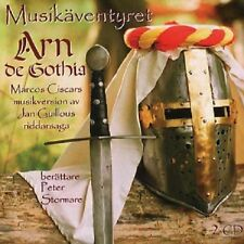 2 CD musikäventyret Arn de Gothia Peter Stormare svedese Jan Guillou NUOVO