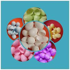 12 x Easter Eggs Plastic Bright Egg Assortment DIY Decoration Assortment Toy