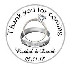 120 SILVER WEDDING RINGS WEDDING BRIDAL SHOWER TAGS LABEL STICKERS 4 YOUR FAVORS