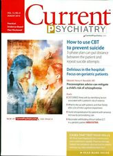 2014 Current Psychiatry Magazine: Use CBT to Prevent Suicide/Geriatric Patients