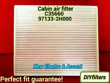 C35660 Elantra 2007-2014 & Accent 2011 AC CABIN AIR FILTER CF10728 PHB5660