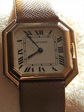 Rare original ladies Cartier Ceinture 18K solid gold automatic vintage swiss
