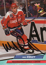 MIKE RIDLEY CAPITALS AUTOGRAPH AUTO 92-93 FLEER ULTRA #238 *28495