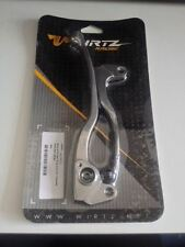 Wirtz ATV Silver With Black Grips Lever Set Yamaha YFZ-450 04/06