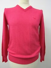"Superb Quality, Mens Pink Virgin Wool Jumper by Armani. Size 50, 38"" Chest"