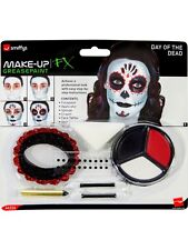 Day Of The Dead Hantée Phantom Maquillage Peinture De Visage Kit pour Halloween