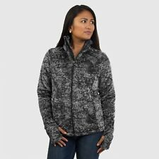 New Women's The North Face Ladies Osito 2 Fleece Jacket Novelty Black Marble 2XL