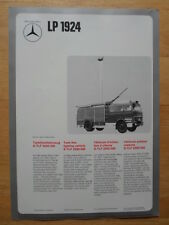 MERCEDES BENZ LP 1924 & LAF 1113B Fire Fighting Vehicle 1974 Leaflet Brochure