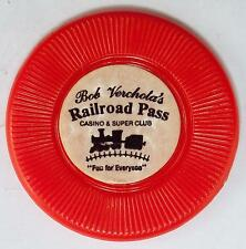 Bob Verchola's Railroad Pass Casino No Cash Value Casino Chip