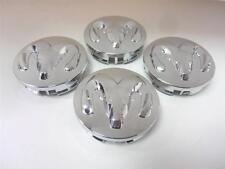 Set of 4 Genuine Mopar 2013-2014 Ram 1500 Chrome Wheel Center Cap Ram Head Logo