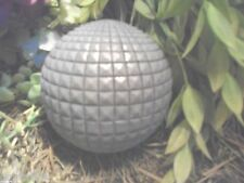 Latex Only fancy small garden disco ball concrete plaster mold