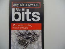 ANYFISH ANYWHERE Rig Bits 15 MEDIUM ROLLING corrispondenza viene ruotata-gratis UK P & P