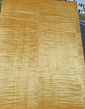 "Maple Curly Figured Tiger wood veneer 13"" x 18"" (1/12th"" thick) on wood backer"