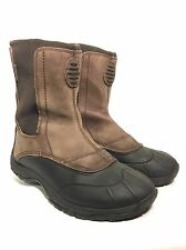 LL Bean Tek 2.5 Waterproof Boots Men's 9 M Brown Suede & Rubber Duck Hunting!!