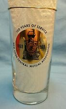 Vintage Glass  New York Central Railroad Mutual Association 1869-1969 100 years