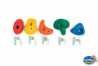 Climbing Rock Wall Grab Holds Grips Set Of 5 Medium Size (approx 80mm) Stones