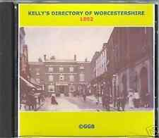 GENEALOGY DIRECTORY OF WORCESTERSHIRE 1892 CD ROM