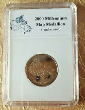 Canada 2000 Millennium MAP MEDALLION 25 Cent coin Regular Issue