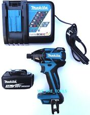 Makita Brushless 18V XDT08 1/4 Impact Driver, 1) BL1830 Battery, Charger 18 Volt