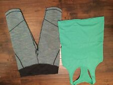 Euc Lululemon Run Excel Crop Wee Are From Space Blue Tropics run swiftly lot 6