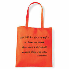 Art T-shirt, Borsa  George Best, Arancio, Shopper, Mare
