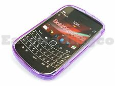 Soft Rubber Case Cover Blackberry Bold 9900 9930 Purple