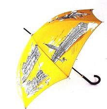 J-261140 New Burberry Prorsum Cornflower Yellow Umbrella with Case