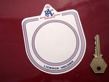 RAC Motor Sports Association Licence Holder Static Cling WINDOW STICKER Classic